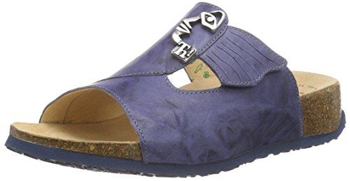 Think!Mizzi Pantolette - Ciabatte Donna Blu (Blau (JEANS/KOMBI 84))