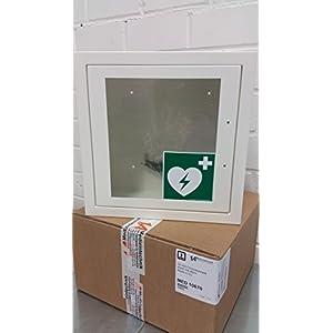 universal Wandkasten/Wandschrank für AED Defibrillator Metall Wandkasten für Innen, pulverbeschichtet für alle AED's mit Alarmfunktion