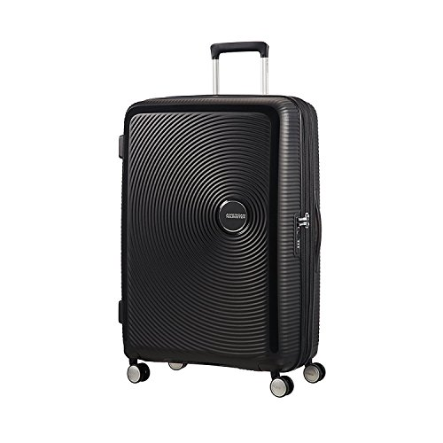 American Tourister Soundbox Spinner Valigia 77 Cm, 110 L, Nero (Bass Black)