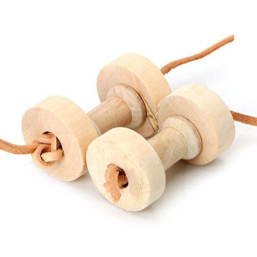 ecmqs pappagallo pet bird manubri da masticare giocattoli in legno per Perruche Cockatiel Fun gabbia giocattolo nuovo