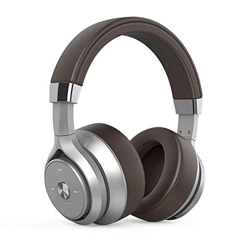 Wireless headset head-mounted bass headset sound insulation and noise reduction headset , Coffee Brown - Smart-response-mobile