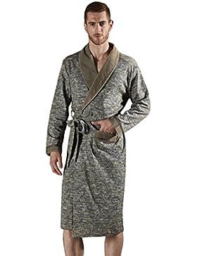 PFSYR Albornoz de algodón para hombres Pijamas suaves cómodos/Primavera y otoño Ropa de hogar/Vestido de mañana