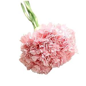 Lumanuby 1 Set Kunstblume Imitation Seidentuch Gefälschte Blumen Pure Color lebensechte Nelken Form Schöne Deko Wohnaccessoires für Schlafzimmer Salon Hotel Schreibtisch, Rosa
