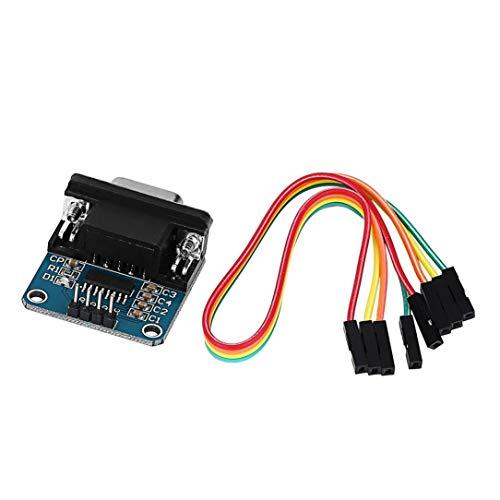 DB9-Anschluss mit Kabel MAX3232 RS232 Serial Port Konverter-Modul 3.3V-5.5V Elektronische Bauelemente auf TTL Serial Port Control