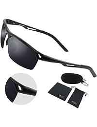 510d147102 Duco Men Sports Style Polarized Sunglasses Driver Glasses Metal Frame 8550  (Black Frame Gray Lens