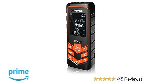 Tacklife Laser Entfernungsmesser Bedienungsanleitung : Laser entfernungsmesser distanz m lomvum messgerät