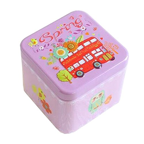 Entz?ckende 3D Entlastung Quadratische S??igkeit-Zinn-Pl?tzchen-Kasten-Geschenk-Kasten Tee-Speicher-Zinn-Kasten, # 02