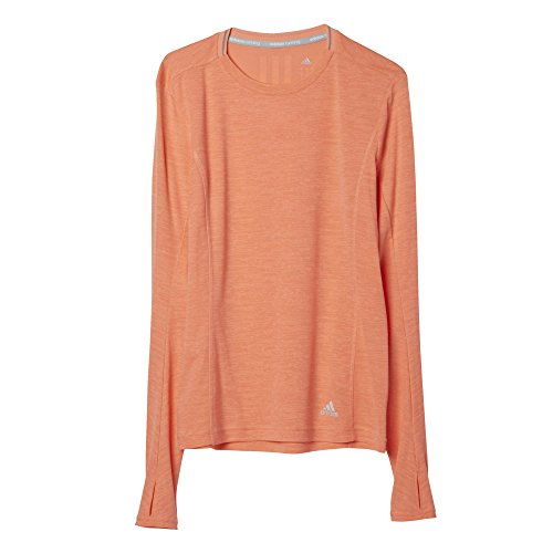 adidas Damen T-shirt SN L-S W, Orange, S, 4056561602760 (Adidas Langarm Orange T-shirt)