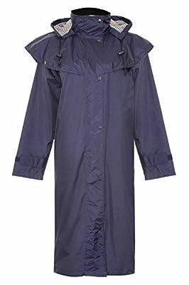 Womens Long Riding Coat Ladies Waterproof Full Length Jacket