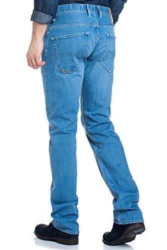 Salsa - Navarro gerade geschnittene Jeans und hellen Waschung - Herren Blau