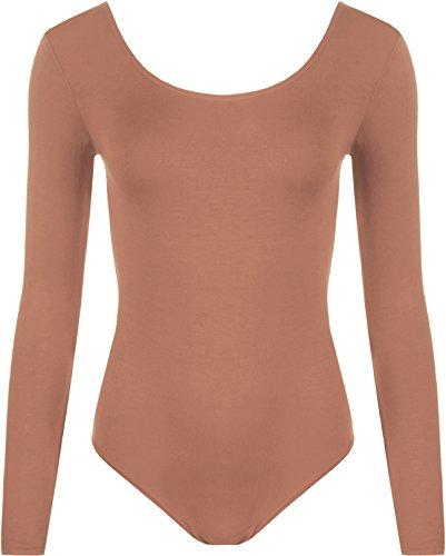 WearAll - Justaucorps à manches longues avec les boutons pressions - Hauts - Femmes - Grandes tailles 44 à 54 Rouille