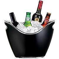 Yobansa Cubo de hielo acrílico transparente para botellas de vino o champán, herramientas para barra