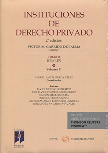 Portada del libro INSTITUCIONES DE DERECHO PRIVADO. TOMO II REALES. Volumen 2º (Papel + e-book) (Instituciones Derecho Privado)
