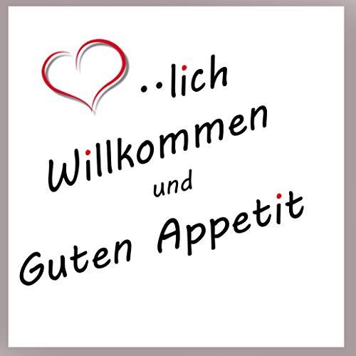 Servietten Sprüche Herzlich Willkommen Essen Spaß Familie 20 Stück 3-lagig 33x33cm ...