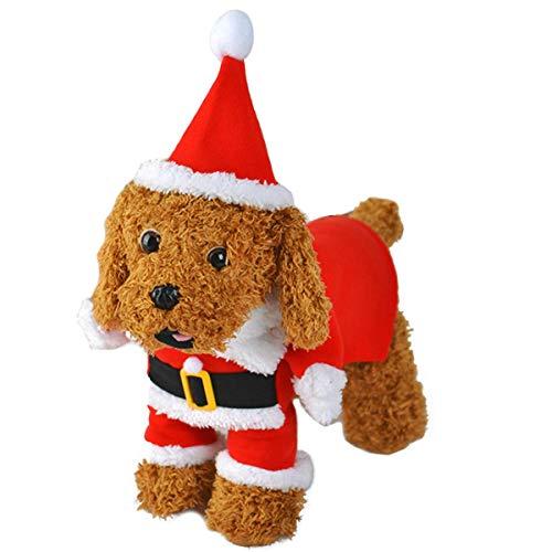 (LAWOHO Haustierkostüm, Weihnachtsmannkostüm, mit Kapuze, für Hunde und Katzen, Weihnachten, für Welpen, Kätzchen, Hunde und Haustiere)