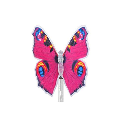 YA-Uzeun Solar-LED-Leuchte Schmetterling Garten Rasenlicht Dekoration Lichterkette Rose