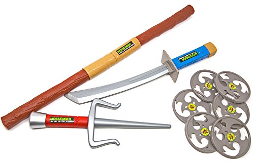 Ninja-Schwert Samurai-Kostüm Säbel Dolch Stock Zubehör Assassin Set Kinder-Spielzeug Karneval Fasching