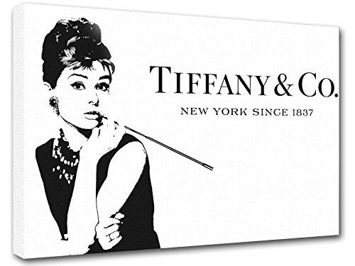 Gemälde Inspiriert Von Tiffany Co Audrey Hepburn Tiffany Bild Druck Auf Leinwand Für Den Innenausbau Tfo1, 50x70 cm