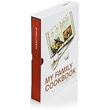 SUCK UK Livre de cuisine My Family Cookbook  - Rouge