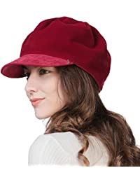 843f3fd829104 Womens Newsboy Cap Visor Beret Paperboy Conductor Painter Winter Fall Hat  56-59cm