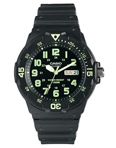 Casio Collection Herren-Armbanduhr MRW200H3BVEF, schwarz/Grün