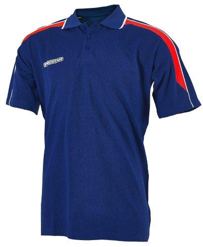 Prostar Unisex Kinder Polo Shirt, magnetisch grün - Marineblau / scharlachrot / weiß