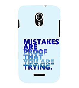 EPICCASE Keep trying Mobile Back Case Cover For Micromax Canvas Magnus A117 (Designer Case)