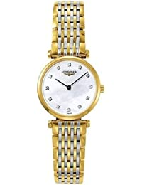 amazon co uk longines watches longines men s 41mm steel bracelet case sapphire crystal quartz blue dial analog watch l37024966