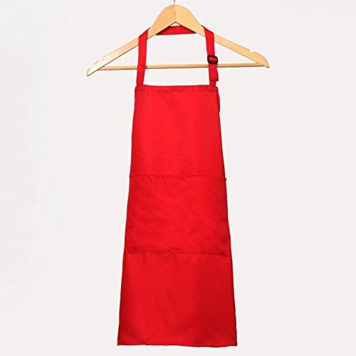 GaGadot Mode Schürze Reine Farbe Schürze Tee Shop Arbeitskleidung (Rot)