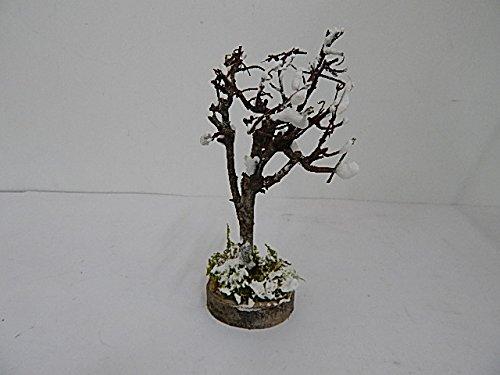 Rossi rosa - albero coperto di neve con rami secchi, altezza 15 cm, multicolore, taglia unica