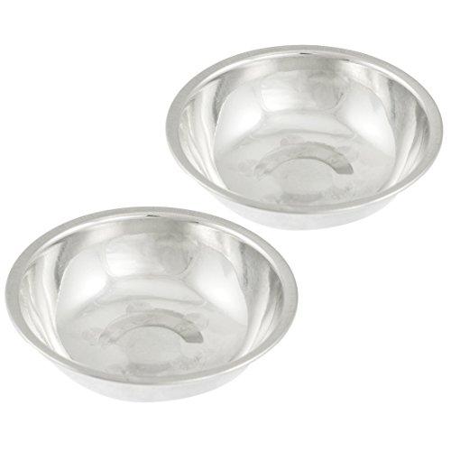 sourcingmap® 2 Stück 2.7cm Durchmesser runde Tropfschale Ölschale Edelstahl Speiseöl Teller