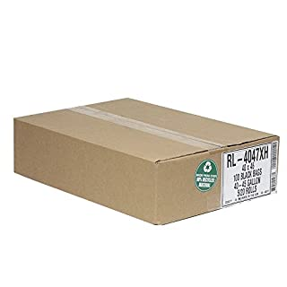 Aluf Plastics RL-4047XH T-Tough Roll pack Low Density Repro Blend Star Seal Coreless Rolls Bag, 45 Gallon Capacity, 46