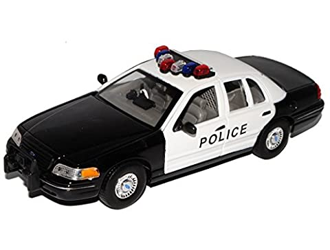 Ford Crown Victoria Police Limousine Weiss 2. Generation 1997-2001 1/24 Welly Modell Auto