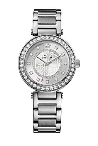 Juicy Couture Luxe reloj infantil de cuarzo con para mujer plateado esfera analógica y plateado correa de acero inoxidable de 1901150