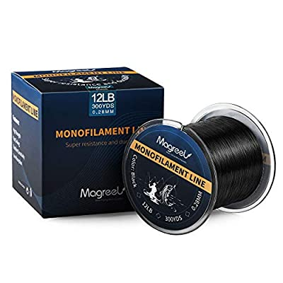 Magreel Monofilament Fishing Line Abrasion Resistant Leader Line Strong Nylon Fishing Line for Saltwater Freshwater