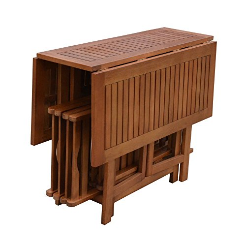 garten e tischgruppe 5tlg. Garden Pleasure Tischgruppe Garten Tisch Stuhl Esstisch Eukalyptus Holz
