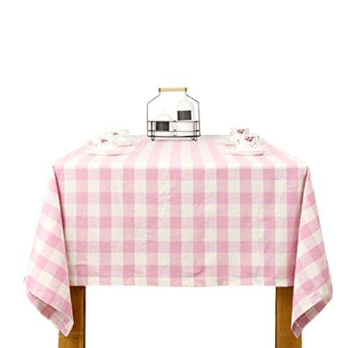 kakiyi 140x140cm/140x180cm/140x200/140x220cm Kariertes Muster Tischdecke Baumwolle Polyester Rechteck Tabelle Cloth