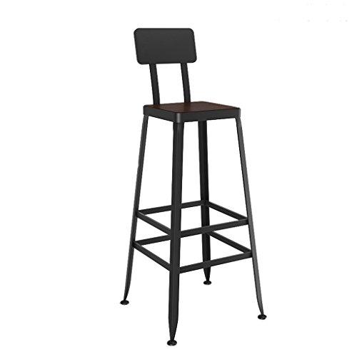 GHFDSJHSD Hocker Retro Barhocker Tafel mit PU Sitz stabil Eisen Stent Eine Rückenlehne haben gegen Kein Zurück Höhe 45cm / 65cm / 75cm Familie Frühstücksstuhl Bar Kaffee, 3 -