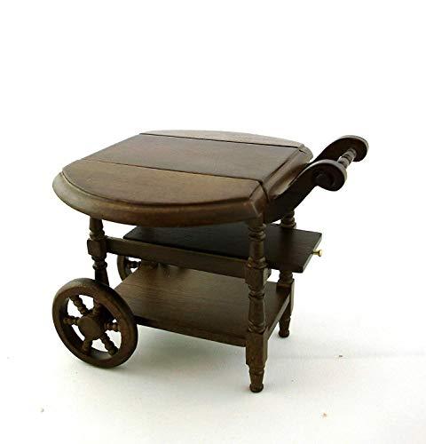 Melody Jane Puppenhaus Miniatur Esszimmer Möbel Holz Tropfen Blatt Tee Wagen - Blatt Esszimmer-möbel