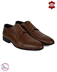 Ziraffe HOBART Tan Leather Formal Shoes (7 UK)