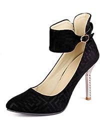 Las Mujeres de tacón Alto Pajarita Partido Vestido de la Corte Zapatos de tacón de Aguja