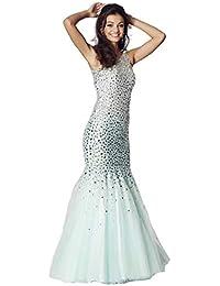 Tiffanys Illusion Prom Mint Khaleesi Rhinestone Jewelled Mermaid Prom Dress