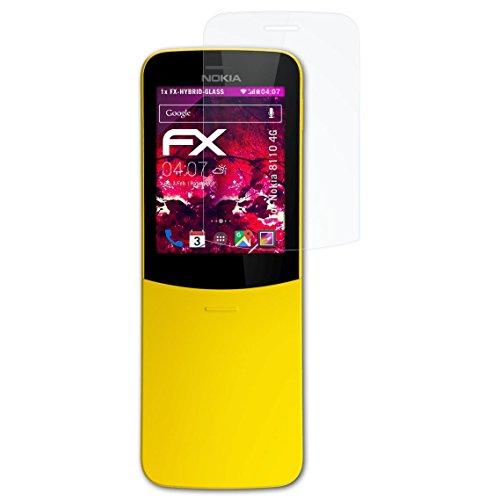 atFolix Glasfolie kompatibel mit Nokia 8110 4G Panzerfolie, 9H Hybrid-Glass FX Schutzpanzer Folie