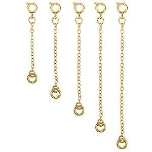 5 Stück Halskette Extender Armband Verlängerung Kette Set für Halskette Armband DIY Schmuckherstellung