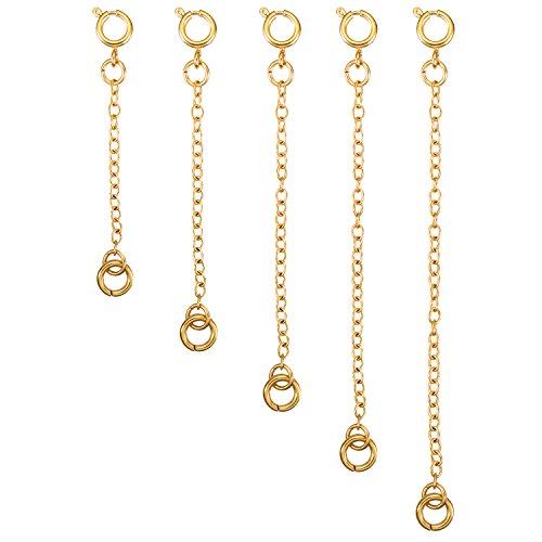 5 Stück Halskette Extender Armband Verlängerung Kette Set für Halskette Armband DIY Schmuckherstellung Test
