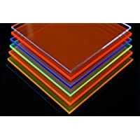 in-outdoorshop Plexiglas® Zuschnitt Acrylglas Platte in unterschiedlichen Farben (250mmx x 250mm x 3mm, gelb fluoreszierend)