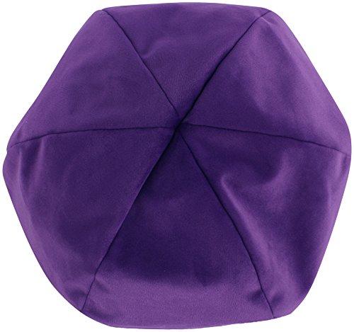 RaOn N358 Irish Uhr Art Samt Docker Mütze flach Hut Fahr für Herren ~ 7 1/8 7 1/4 (57cm ~ 58 cm) Lila (Fahr-hüte Für Männer)