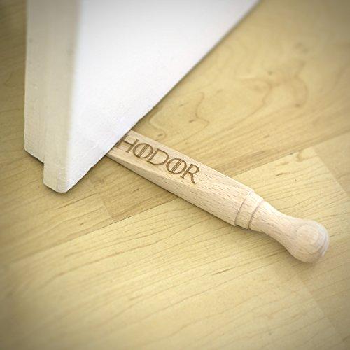 Game of Thrones Inspired - HODOR - Wooden Door Stop - Engraved Gift