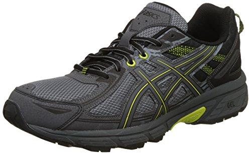 ASICS Men's Gel-Venture 6 Stone Grey/Carbon/Black Trail Running Shoes - 7 UK/India (41.5 EU)(8 US)(T7G1N.1197)
