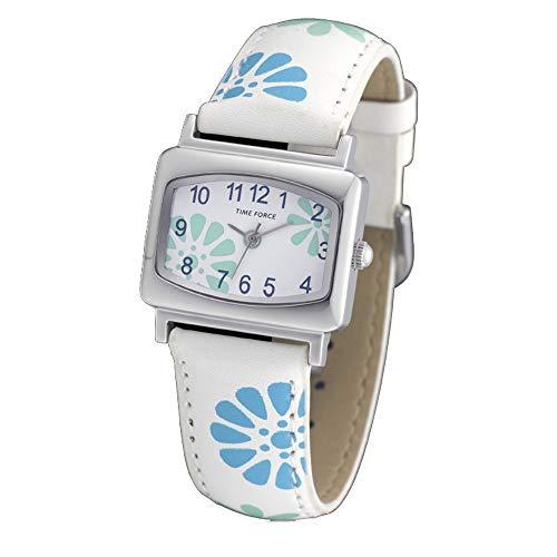 Time Force Reloj Analógico para Niños de Cuarzo con Correa en Cuero TF3389B03